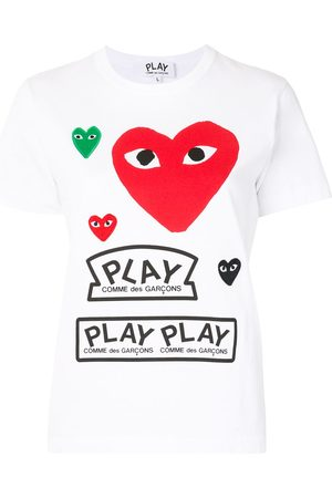 Comme des Garçons Naiset T-paidat - Logo print short sleeve t-shirt