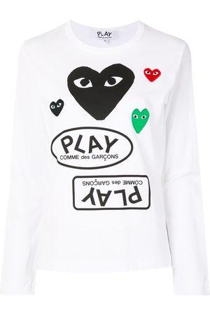 Comme des Garçons Naiset T-paidat - Logo print long sleeve t-shirt