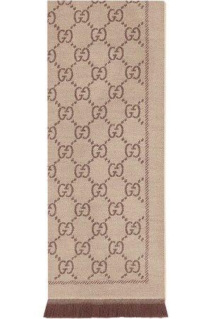 Gucci GG jacquard knit scarf