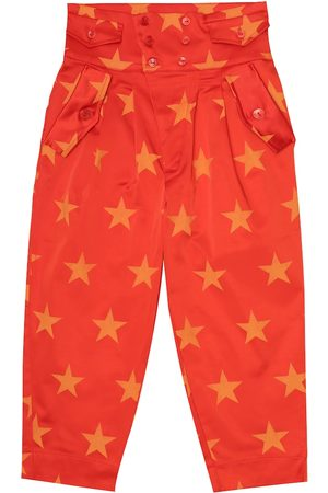 The Animals Observatory Camel printed stretch-satin pants