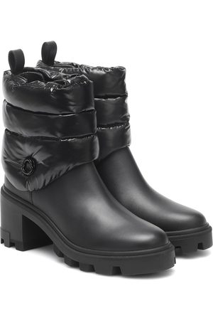 Moncler Camille leather and down ankle boots