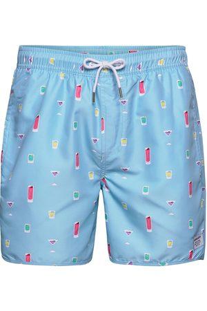 Dedicated Miehet Uimashortsit - Swim Shorts Drinks Uimashortsit Sininen