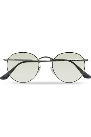 Ray-Ban Miehet Aurinkolasit - 0RB3447 Round Metal Sunglasses Gunmetal/Light Green