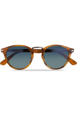 Persol Miehet Aurinkolasit - PO3108S Polarized Sunglasses Striped Brown/Gradient Blue