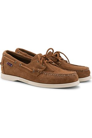 SEBAGO Miehet Loaferit - Docksides Suede Boat Shoe Brown Cognac