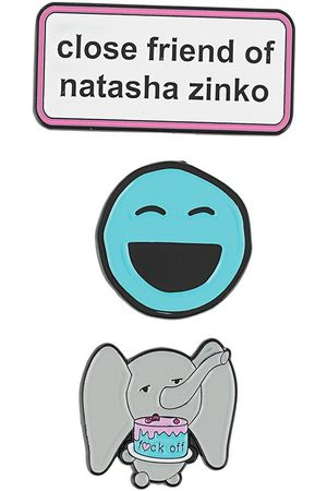 Natasha Zinko Slogan and smiley pins set