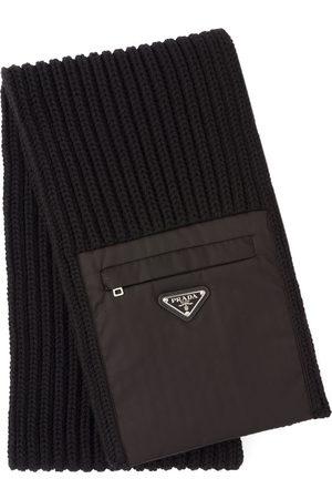 Prada Miehet Huivit - Zipped pocket knitted scarf