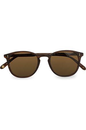 GARRETT LEIGHT Miehet Aurinkolasit - Kinney 49 Sunglasses Matte Brandy Tortoise/Brown Polari
