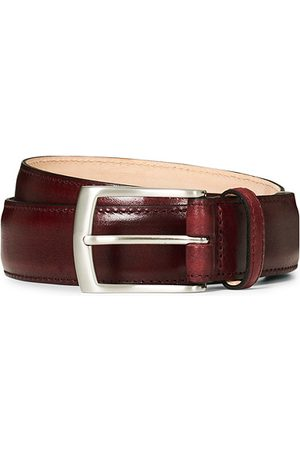 Loake Miehet Vyöt - Henry Leather Belt 3,3 cm Burgundy