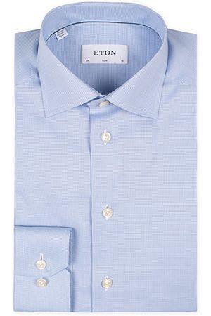 Eton Miehet Kauluspaidat - Slim Fit Shirt Pepita Blue