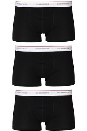 Dsquared2 Miehet Alushousut - 3-Pack Cotton Stretch Trunk Black