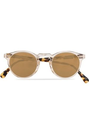 Oliver Peoples Miehet Aurinkolasit - Gregory Peck Sunglasses Honey/Gold Mirror