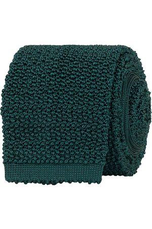 Drake's Miehet Solmiot - Knitted Silk 6.5 cm Tie Green