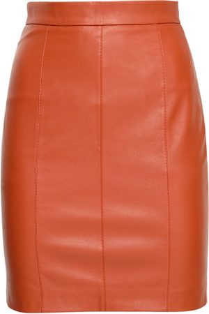 Liya Faux Leather Pencil Skirt