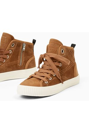 Zara CORDUROY HIGH TOP SNEAKERS