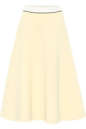Marni Cotton-blend jersey midi skirt