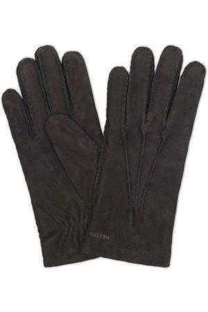 Hestra Miehet Käsineet - Arthur Wool Lined Suede Glove Black