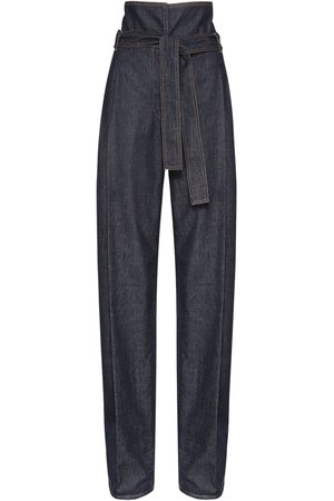 Stella McCartney High Waist Cotton Wide Leg Pants