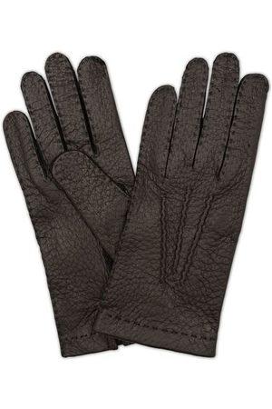 Hestra Miehet Käsineet - Peccary Handsewn Unlined Glove Black