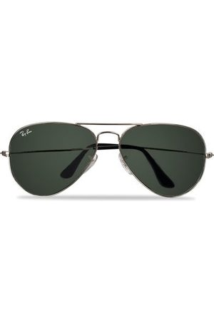 Ray-Ban Miehet Aurinkolasit - Aviator Large Metal Sunglasses Silver/Grey Mirror