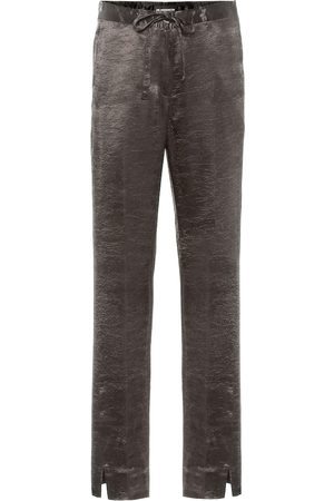 ANN DEMEULEMEESTER Satin wide-leg pants