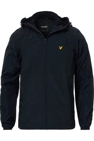 Lyle & Scott Zip Through Hooded Jacket Dark Navy