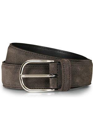 Anderson's Miehet Vyöt - Suede 3,5 cm Belt Grey