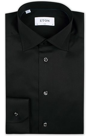 Eton Miehet Kauluspaidat - Slim Fit Shirt Black