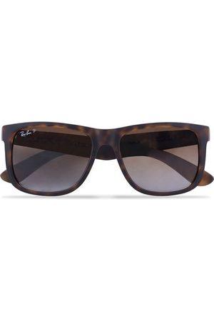 Ray-Ban 0RB4165 Justin Polarized Wayfarer Sunglasses Havana/Brown