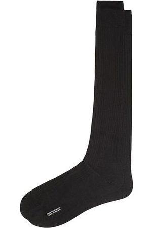 Pantherella Miehet Sukat - Baffin Silk Long Sock Black