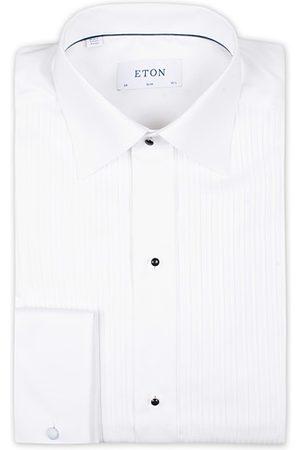 Eton Miehet Bisnes - Slim Fit Tuxedo Shirt Black Ribbon White