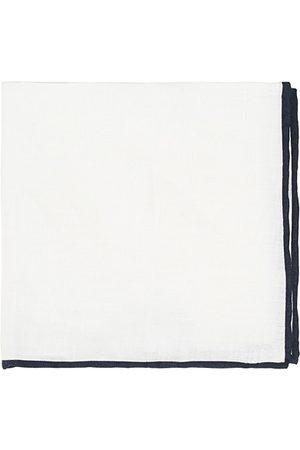 Amanda Christensen Miehet Taskuliinat - Linen Paspoal Pocket Square White/Navy