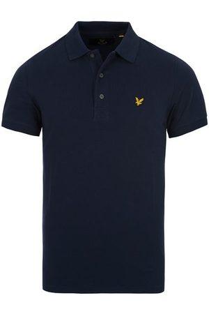 Lyle & Scott Miehet Pikee - Plain Pique Polo Shirt Navy