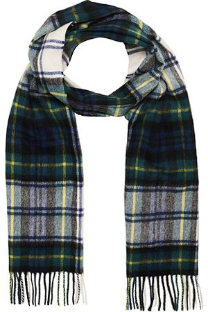 Barbour Miehet Huivit - New Check Tartan Lambswool/Cashmere Scarf Dress Gord