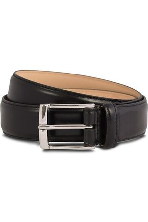 Crockett & Jones Miehet Vyöt - Belt 3,2 cm Black Calf