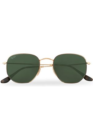 Ray-Ban Miehet Aurinkolasit - 0RB3548N Hexagonal Sunglasses Gold/Green