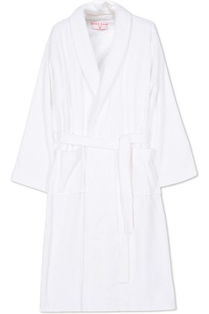 DEREK ROSE Cotton Velour Gown White