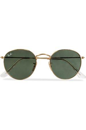 Ray-Ban Miehet Aurinkolasit - RB3447 Metal Sunglasses Arista/Crystal Green