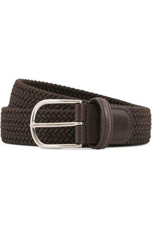 Anderson's Miehet Vyöt - Stretch Woven 3,5 cm Belt Brown