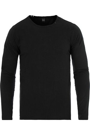 Replay Miehet T-paidat - Crew Neck Long Sleeve Tee Black