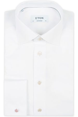 Eton Miehet Kauluspaidat - Contemporary Fit Shirt Double Cuff White