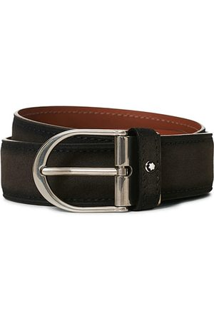 Mont Blanc Miehet Vyöt - Horseshoe Buckle Belt 35mm Grey Suede