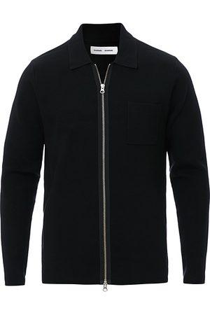 Samsøe Samsøe Miehet Neuleet - Guna Full Zip Black