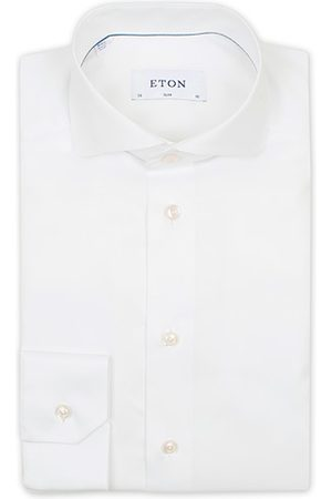 Eton Miehet Bisnes - Slim Fit Twill Cut Away Shirt White
