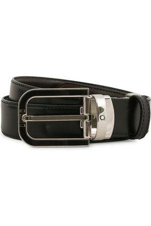 Mont Blanc Reversible Horseshoe Buckle 30mm Belt Black