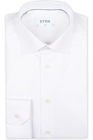 Eton Miehet Bisnes - Slim Fit Textured Twill Shirt White
