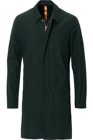 PRIVATE WHITE V.C. Miehet Päällystakit - Unlined Cotton Ventile Mac Coat 3.0 Racing Green