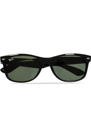 Ray-Ban Miehet Aurinkolasit - New Wayfarer Sunglasses Black/Crystal Green