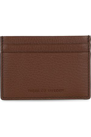 Tiger of Sweden Miehet Lompakot - Wake Grained Leather Cardholder Brown