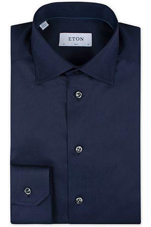Eton Miehet Kauluspaidat - Slim Fit Shirt Navy